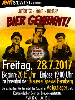 BIER GEWINNT – zum zweiten Mal im SPEZIAL am 28.07.2017