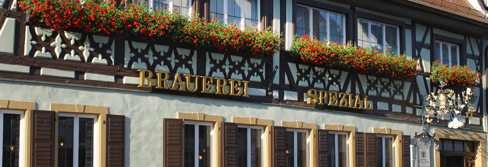 Seit über 475 Jahren wird in der Brauerei Spezial in der Oberen Königstraße 10 in Bamberg das bekannte Bamberger Rauchbier gebraut und ausgeschenkt.